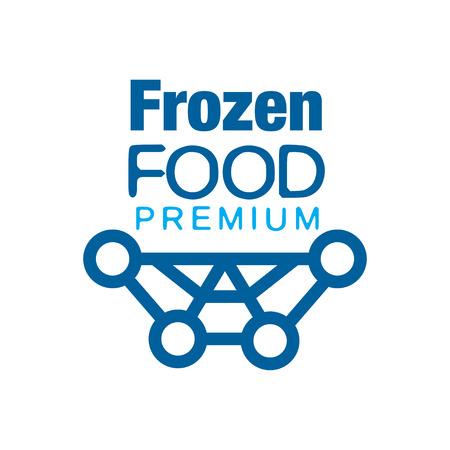 냉동 식품 프리미엄, 냉동 벡터 일러스트 레이션을위한 추상적 인 레이블
