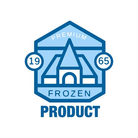 Bevroren productpremie sinds 1965, abstract etiket voor het bevriezen van vectorIllustratie Stock Illustratie