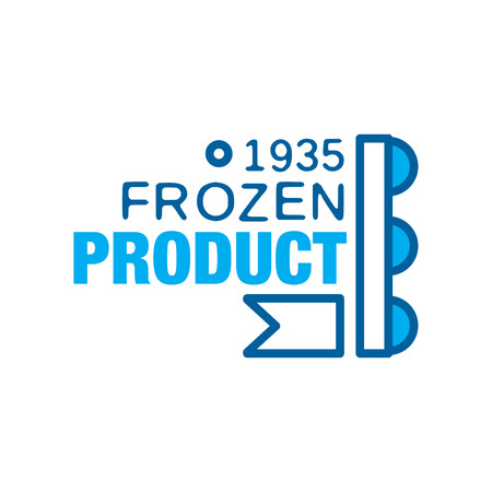 Frozen product since 1935, abstract label for freezing vector Illustration