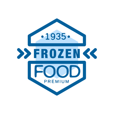Frozen food premium since 1935, abstract label for freezing vector Illustration Ilustração