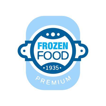 냉동 식품 프리미엄 1935 년 이후, 벡터 일러스트 동결에 대 한 추상 레이블