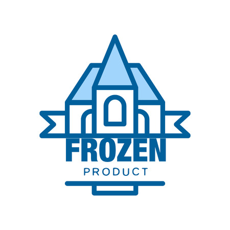 Frozen product, abstract label for freezing vector Illustration