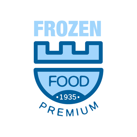 Frozen food premium since 1935, abstract label for freezing vector Illustration Ilustracja