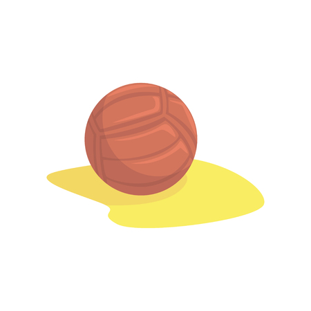 Volleyball in the sand cartoon vector illustration