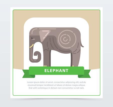 코끼리 배너, 인도 신성한 동물 벡터 요소 웹 사이트 또는 모바일 응용 프로그램에 대 한 스톡 콘텐츠 - 90186781