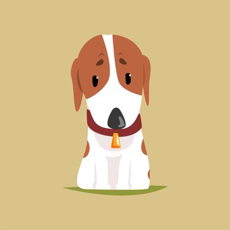 Caracteres del perrito de Jack russell, ilustración del vector del terrier lindo Foto de archivo - 90189659