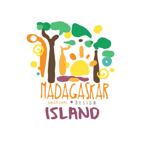 Exotic summer vacation travel to Madagascar 版權商用圖片 - 90578803