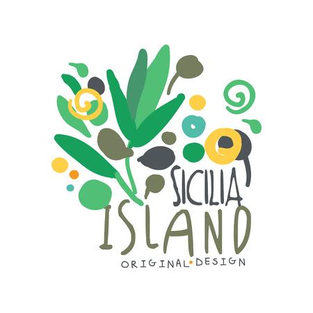 Exotic Sicilia island summer vacation travel