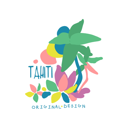Exotic summer vacation colorful Tahiti
