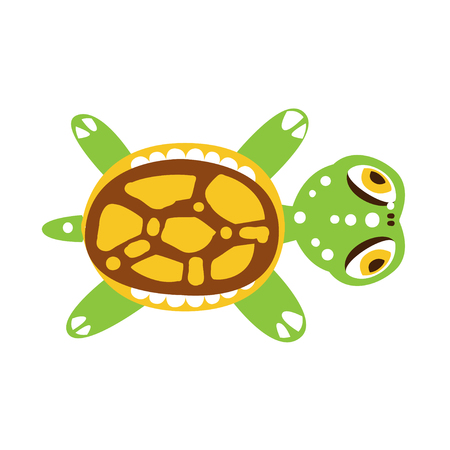 Green turtle with out stretched flippers