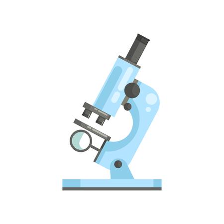 フラットスタイルの光学実験室顕微鏡のフラットベクトル。研究者や実験のための専門の科学または医療ラボ機器  イラスト・ベクター素材