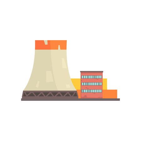 Power plant or factory, industrial manufactury building , industrial manufactury building vector illustration Illustration