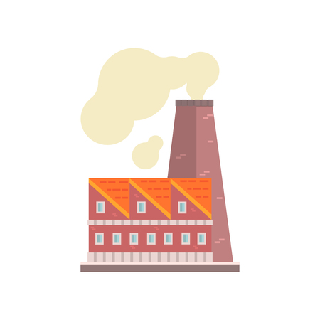 Power plant or factory, industrial manufactury building vector illustration Illustration