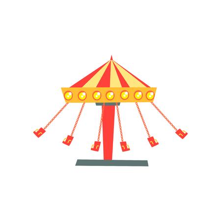 모션에서 체인에 좌석 회전 목마 회전의 만화 아이콘.