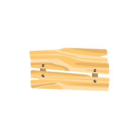 一緒に爪で固定漆塗りの板で署名します。ウッドの事の生産。有機材料、自然な風合い。バナー広告やメッセージ用の渡り板です。フラット ベクト