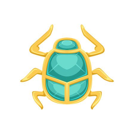 Escarabajo de escarabajo egipcio, error sagrado un símbolo del sol vector Ilustración de vector
