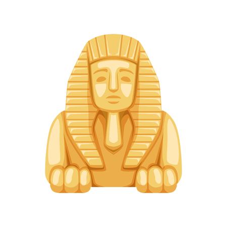 Egyptian Sphinx statue, symbol of ancient Egypt  Illustration. Vettoriali