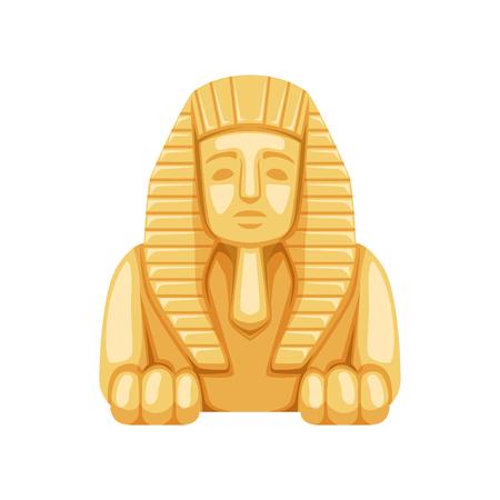 Statua della Sfinge egizia, simbolo dell'illustrazione dell'antico Egitto. Vettoriali