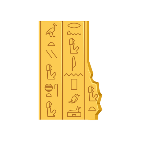 Egypt hieroglyphs, ancient papyrus Illustration. Illustration