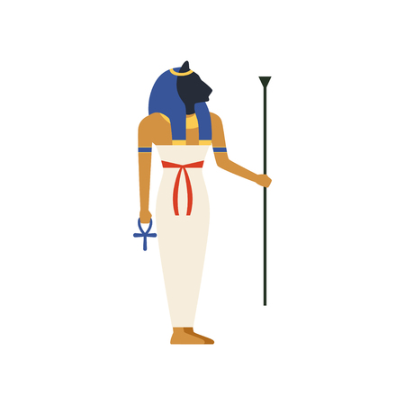 Maat, the Goddess of justice of ancient Egypt vector Illustration 일러스트