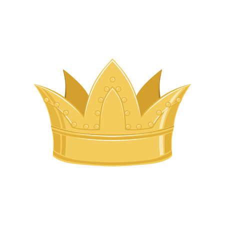 Golden ancient crown, classic heraldic imperial sign vector Illustration Ilustração