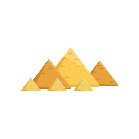 エジプトの大ピラミッド、エジプトベクトルの魅力 イラスト