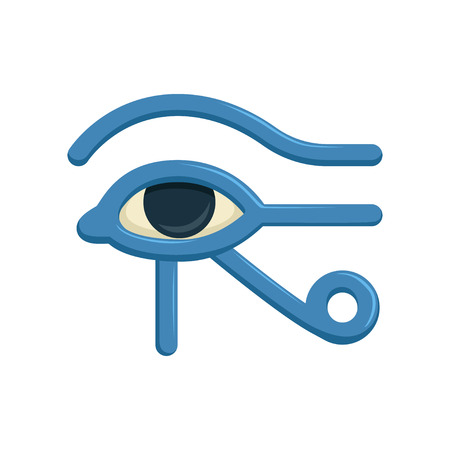 Eye of Horus Egypt Deity, eye of Ra, antique Egyptian hieroglyphic mystical sign, symbol of ancient Egypt, vector Illustration Ilustração