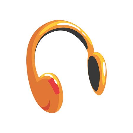 Yellow protective headphones cartoon Illustration Illustration
