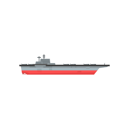 Aircraft carrier icon. Illustration