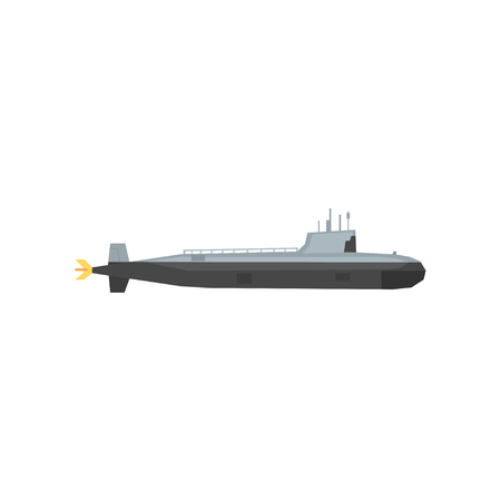 Military submarine icon. 向量圖像