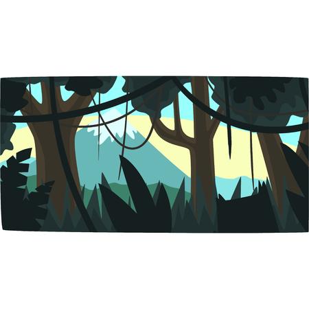 Jungle illustration.