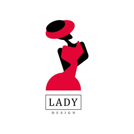 Lady ontwerp banner. Stock Illustratie