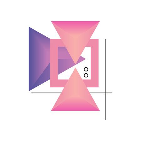 Trendy abstract gradient geometric forms vector illustration Illusztráció