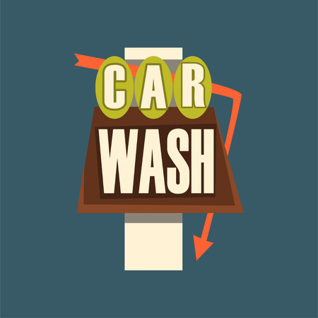 Car wash banner. Illustration