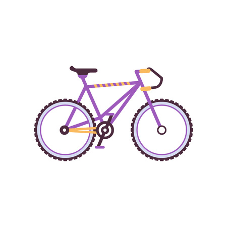 Road bike, modern bicycle vector Illustration on a white background