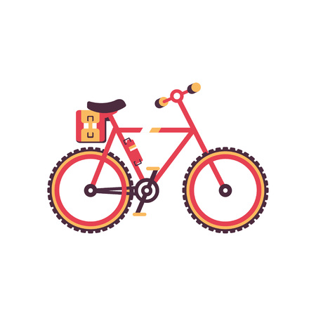 Colorful bike, modern bicycle vector Illustration on a white background