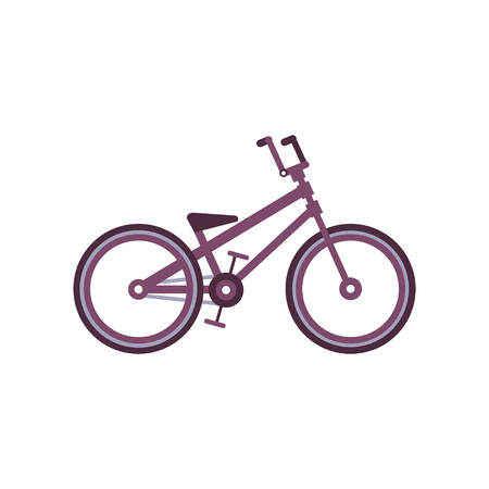 BMX bike, modern bicycle vector Illustration on a white background