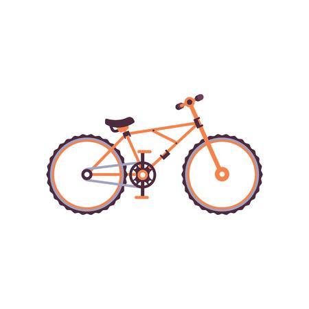 Orange mountain bike, modern bicycle vector Illustration on a white background 版權商用圖片 - 92439873