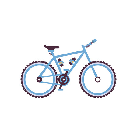 Blue hardtail bike, modern bicycle vector Illustration on a white background 向量圖像
