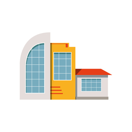 Shop store facade, exterior of market, modern building vector Illustration on a white background. Illustration