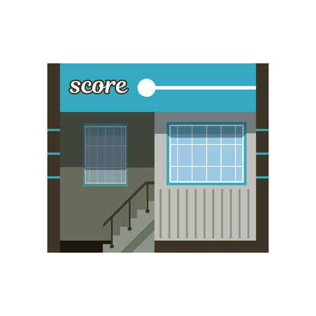 Modern city building facade, office or commercial building vector Illustration on a white background.