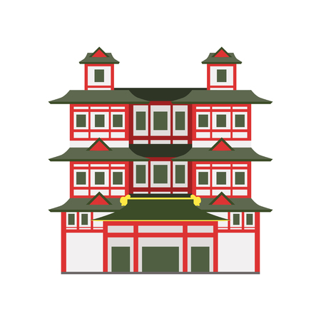 Buddha Toothe Relic Temple, Singapore vector Illustration