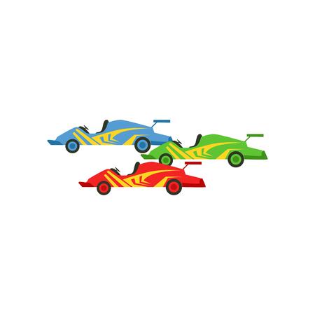 モータースポーツレースカーベクトルイラスト
