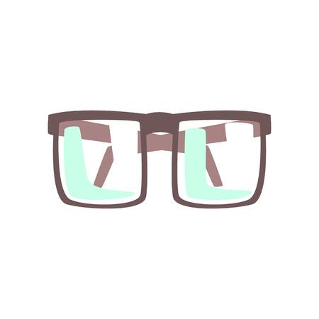 Eye glasses cartoon vector Illustration