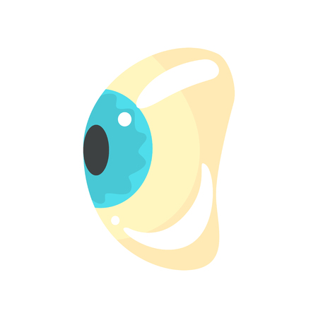 Human blue eye, ophthalmology concept cartoon vector Illustration on a white background