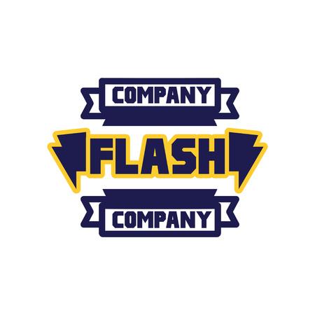 Grelle Firmenlogoschablone, Gestaltungselement für Geschäftsausweis, Energieaufkleber-Vektor Illustration auf einem weißen Hintergrund Standard-Bild - 93863869