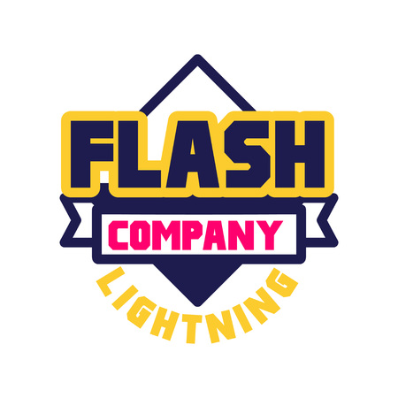 Flash lightning company logo template, design element for business badge vector Illustration Illustration