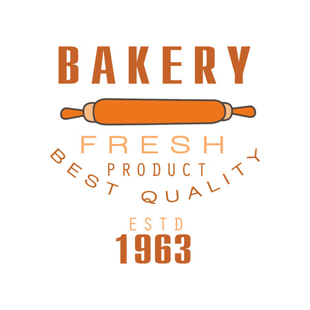 Bakery fresh product, best quality, estd 1963 logo template bread shop badge retro food label design vector Illustration Stock Vector - 93947068