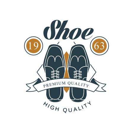 Shoe shop, premium and high quality design, vintage badge for shoemaker, shoe shop and shoes repair vector Illustration