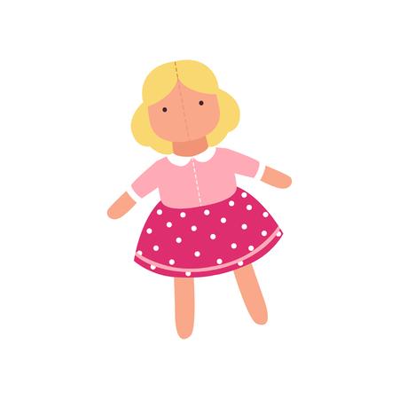 かわいい柔らかい人形のおもちゃ、ぬいぐるみのおもちゃ漫画動物ベクトルイラスト 写真素材 - 94158276